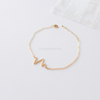 heartbeat bracelet in gold or silver, heart beat bracelet
