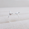 sparrow ring, best friends bird ring, twin sparrows ring, sisters ring, bird ring