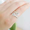 personalized Initial Ring in silver/gold/sterling silver 925