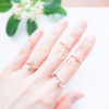 Twist Knot knuckle ring,love knot knuckle ring, knot midi ring, twist ring, twist ring band, minimal ring