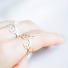 branch ring in gold or silver, leaf ring, wrap around ring