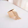 Square Gold Ring with crystals, Geometric ring, Contemporary Ring, Statement Ring, Party Ring