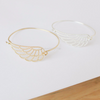 angel wing bangle, wing bangle, angel wing bracelet in gold or silver, guardian angel bracelet, angel wing jewelry