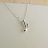 Tiny Music Note Necklace
