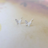 tiny crystal butterfly earrings, sparkle butterfly post earrings, bridesmaid gift