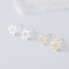 Star of David earrings, star post earrings