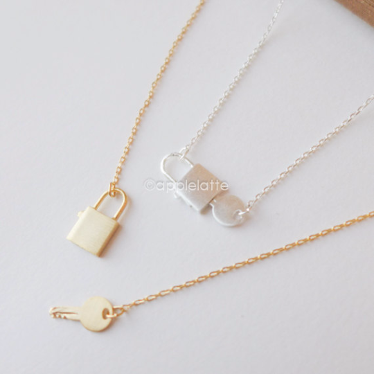 Key Lock Necklace