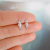 tiny violin earrings in sterling silver 925, viola post earrings, music jewelry