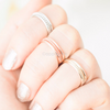 simple knuckle band, simple midi ring, knuckle ring, simple band in gold, silver or rose gold