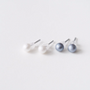 tiny pearl earrings, 6mm pearl post earrings, bridesmaid gift