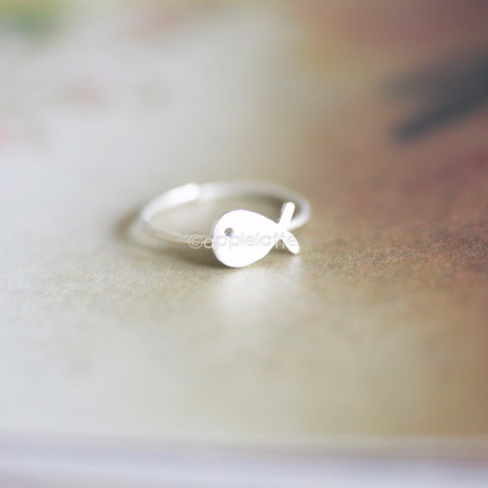 whale ring in sterling silver 925, sea animal ring, whale love, sterling silver ring