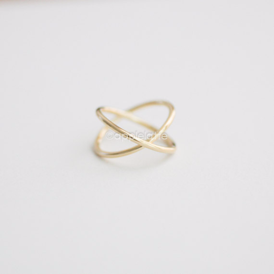 criss cross ring, crossing ring, modern cross ring, x ring