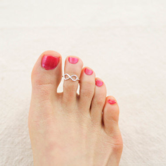 infinity toe ring/ infinity knuckle ring/ infinity pinky ring in sterling silver 925