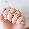 infinity knuckle ring, pinky ring, skinny ring, stackable bands, infinity ring