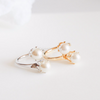 double pearl ring, pearl ring, adjustable ring, simple pearl ring
