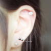 Black Bow Cartilage Earring_P050