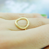 Karma Ring, open round ring in gold or silver