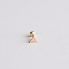 14K Solid Rose Gold Triangle Cartilage Earring_PG006