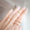 Simple Double Line Ring, CZ Stone Ring, Minimal Ring, Dainty Jewelry, Adjustable Ring, Knuckle Ring,Midi Ring, Stacking Ring,Bridesmaid_R007