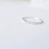 crystal ring, simple CZ band, clear rhinestone ring, white ring, CZ ring