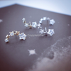 galaxy earrings, star earrings, star post, stars studs, stars in the sky