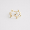 leaf knuckle ring in gold/silver/rose gold, leaf midi ring, leaf pinky ring