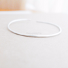 simple thin bracelet in sterling silver 925,dainty cuff, stacking bangle, bridesmaid gift
