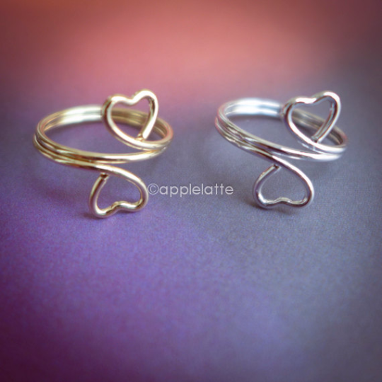 heart knuckle ring