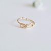 cute bow ring, bow knuckle ring, bow midi ring, bow pinky ring, ribbon ring, bow band, bow jewelry