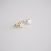 star ear cuff,  star ear wrap, star cartilage cuff, star ear cuff, non pierced