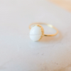 white Moonstone Ring in gold or silver , white ring, wedding, bridesmaid gift