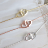 Two Open Heart Necklace