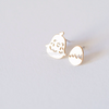 easter chick and egg earrings in gold or silver, animal Studs, cute earrings, Mis match Earrings