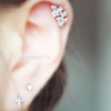 Crystal Leaf Cartilage Piercing_P136