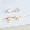 tiny cute toucans earrings in silver or gold, bird post earrings, bird earrings, pelican jewelry, parrot earrings, pelican earrings