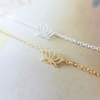tiny lotus anklet in gold or silver,flower anklet