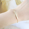 slim long bar bracelet in gold or silver, gold bar bracelet, silver bar bracelet, engraved bar bracelet