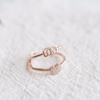 LOVE Ring, LOVE Heart Ring, Double Line Ring, LOVE Jewelry, Adjustable Ring, Knuckle Ring, Midi Ring, Dainty Love Jewelry, Bridesmaid_R009