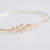 crystal galaxy star bracelet in gold or silver, dainty star cuff, stacking bangle, bridesmaid gift, minimal bracelet, star bangle