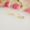 LOVE earrings in gold / silver / rose gold
