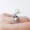 rolling ball Cat ring size 5 ~ 9 us