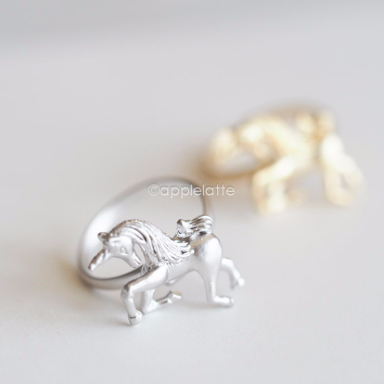 unicorn ring, adjustable ring, animal ring, dream jewelry, fairy tale jewelry