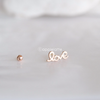 14K Solid Rose Gold Love Barbell Cartilage_PS144P