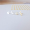 tiny Rudolf and Snowflake post earrings in gold or silver, Christmas earrings, Christmas studs, Holiday jewelry, reindeer post