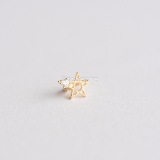 Gold Star Tragus Earring_P026