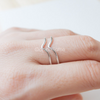 double Chevron Ring, thumb ring