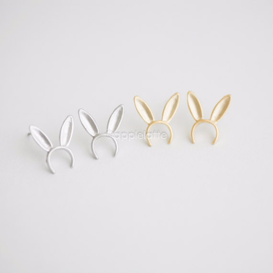 Cute Bunny Ears post earrings, Bunny headband stud earrings, rabbit ear earrings, bunny jewelry