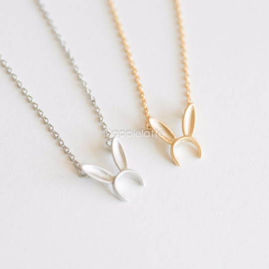 Cute Bunny Ears Necklace
