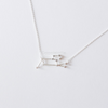 Leo Zodiac Sign Necklace In Sterling Silver 925, The Lion Necklace