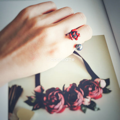 Classic Rose Pearl Ring_2 colors